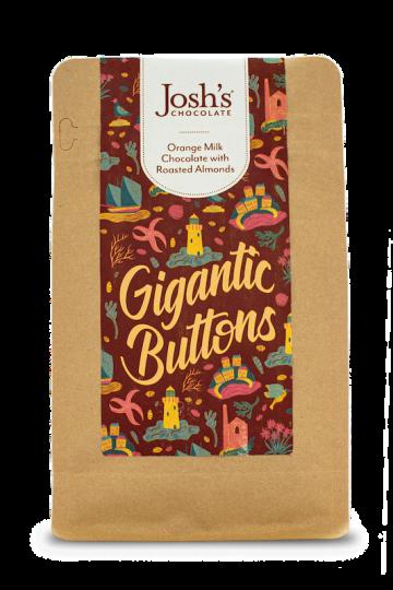 Josh's Chocolate Gigantic Orange Chocolate Buttons